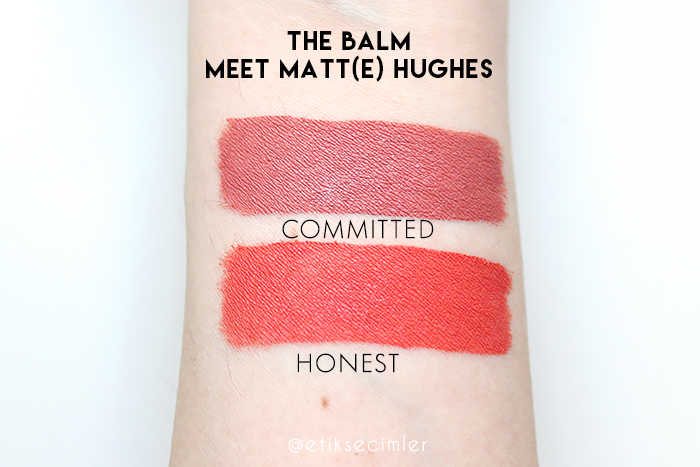 The Balm Meet Matte Hughes likit mat rujlar committed honest swatch dupe