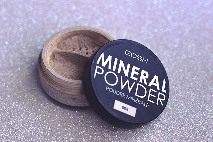 gosh mineral powder pudra fondöten cruelty free vegan doğal zararsız makyaj