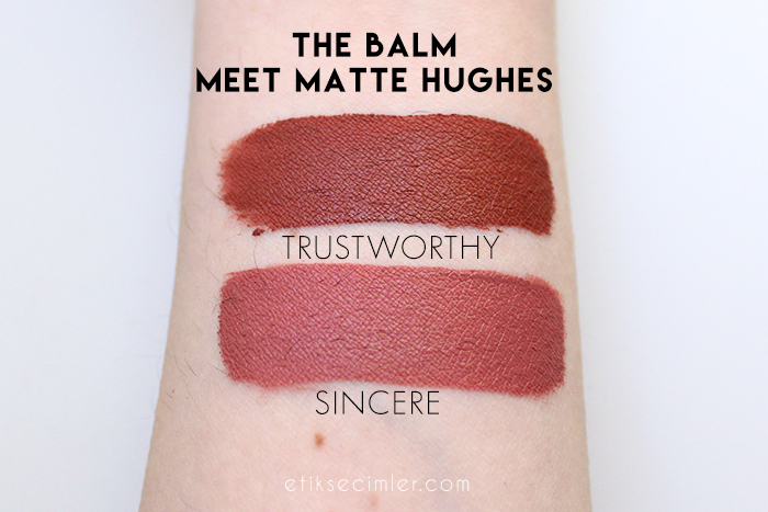 the balm meet matte hughes likit mat rujlar sincere trustworthy swatch