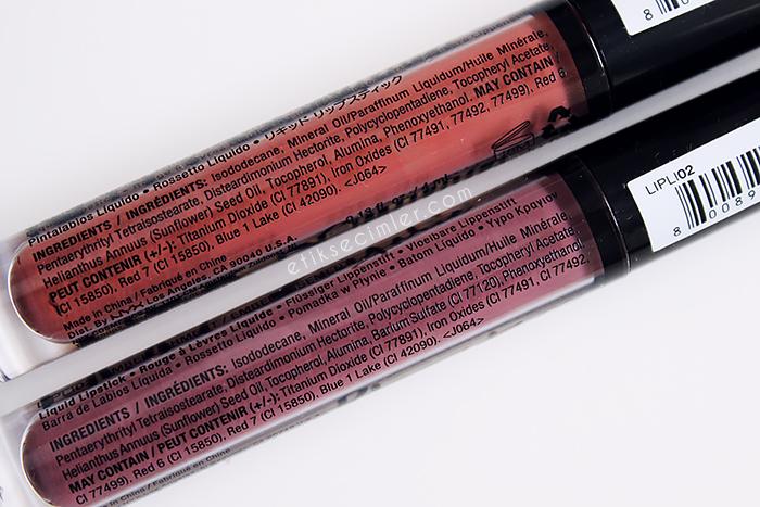 Nyx lip lingerie likit mat ruj içerik ingredients