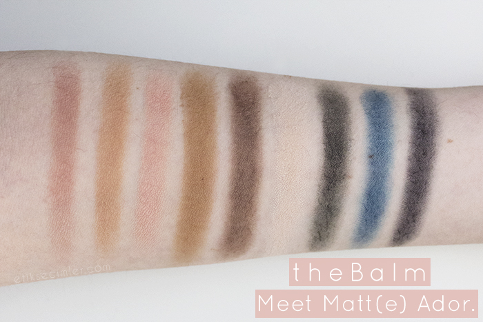 The Balm Meet Matte Ador Vegan Far Paleti swatch