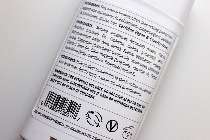 schmidts naturals deodorant bergamot + lime icerik