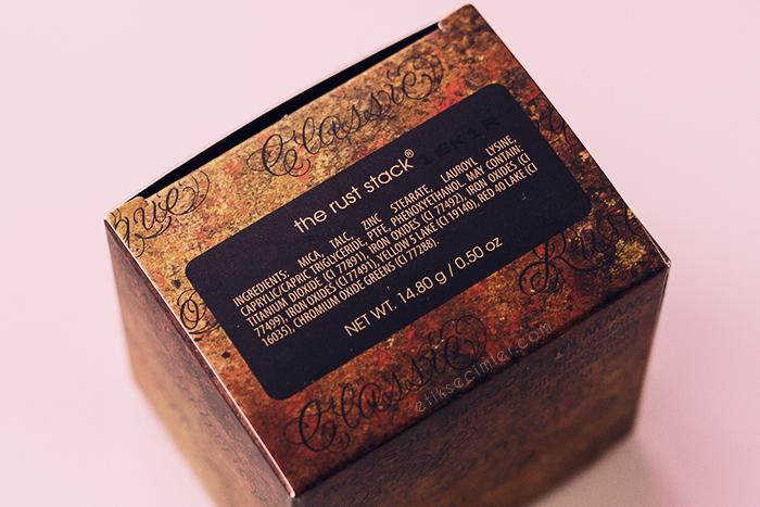 Melt Cosmetics Rust Paleti içerik