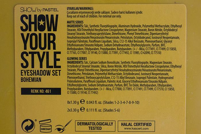 Pastel-Show-Your-Style-Bohemian-Palet içerik