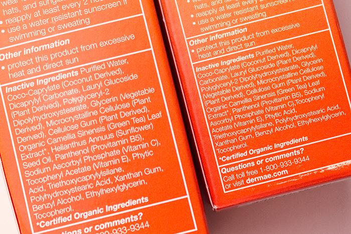 Derma E Sun Defense Mineral Sunscreen SPF 30 içerik